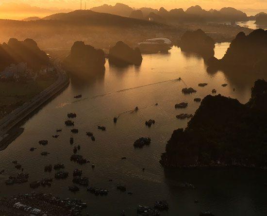 Vue de Hon Gai
